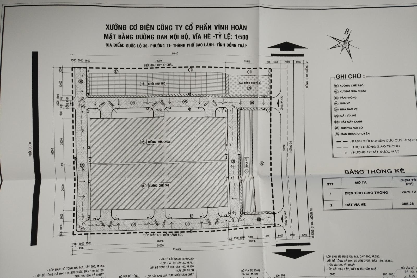 V/v thông báo kết quả thẩm định thiết kế bản vẽ thi công công trình Xưởng cơ điện của Công ty Cổ phần Vĩnh Hoàn