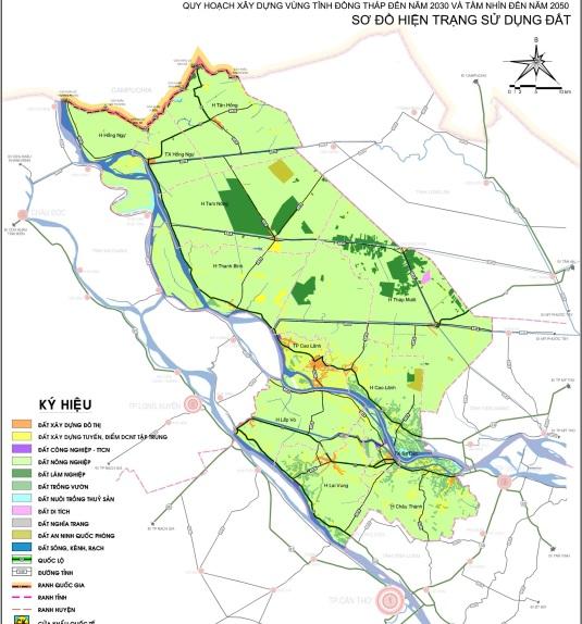 Quyết định số 620/QĐ-UBND.HC về việc phê duyệt đồ án quy hoạch xây dựng vùng tỉnh Đồng Tháp đến năm 2030, tầm nhìn đến năm 2050