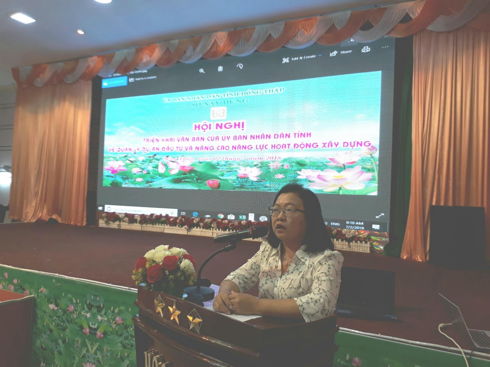 Hội nghị triển khai văn bản của Uỷ ban nhân dân tỉnh về quản lý dự án đầu tư và nâng cao năng lực hoạt động xây dựng