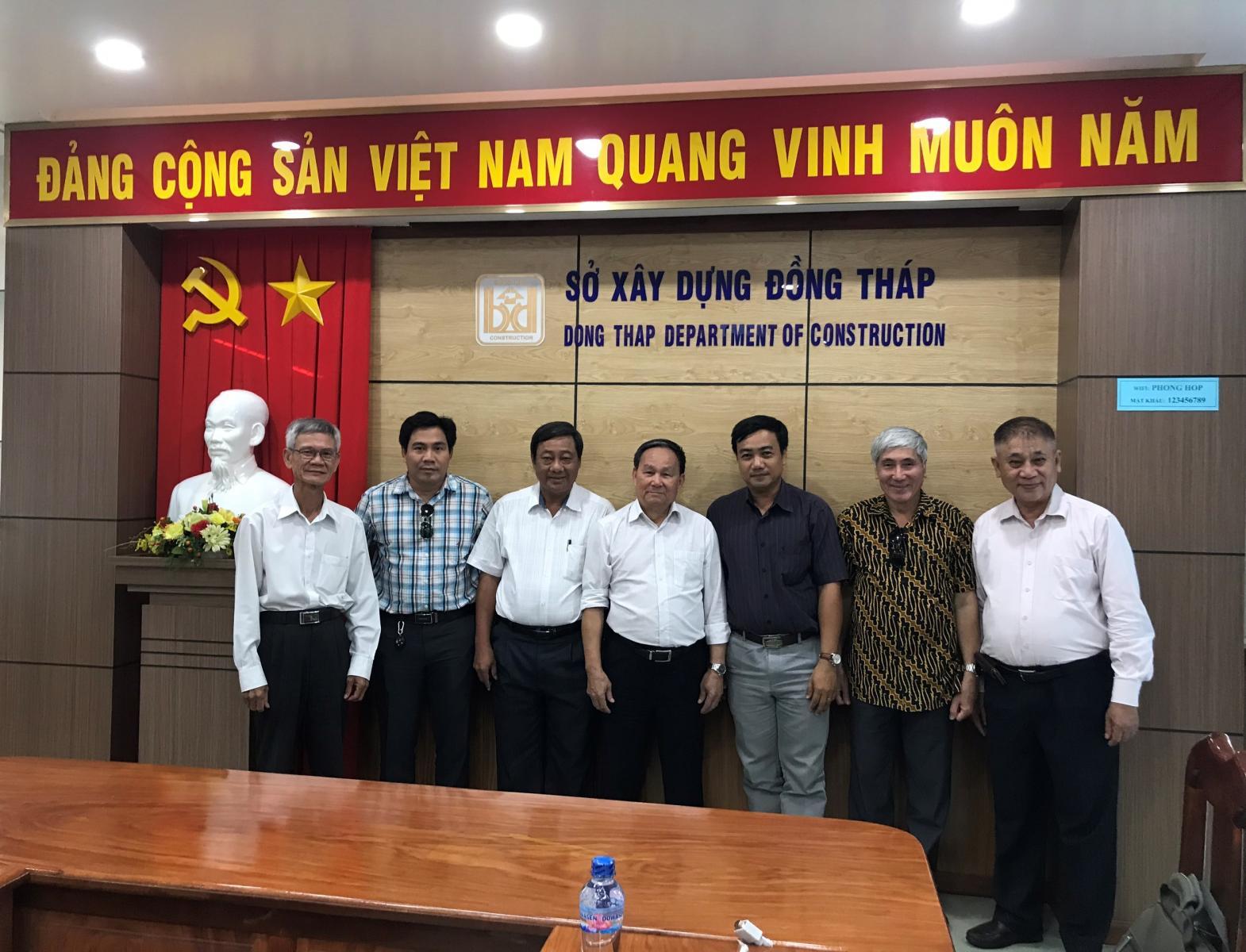 Hội Kiến trúc sư Việt Nam đến thăm và làm việc với Hội Kiến trúc sư Đồng Tháp