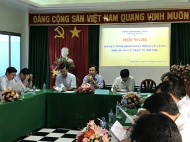 Hội nghị sơ kết tình hình hoạt động của các đội quản lý trật tự đô thị