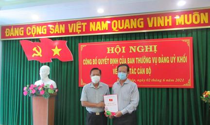Đồng chí Trần Ngô Minh Tuấn giữ chức vụ Bí thư Đảng ủy Sở Xây dựng  nhiệm kỳ 2020-2025
